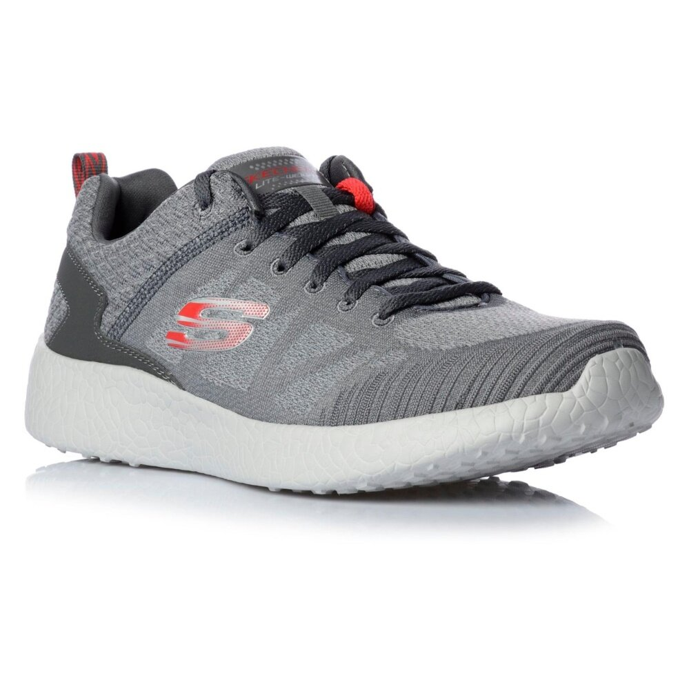SKECHERS MEN รองเท้าผ้าใบ ผู้ชาย รุ่น AIR-COOLED MEMOMY FOAM - 52106CCRD(CHARCOAL/RED)