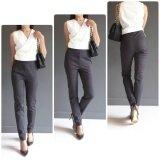 ซื้อ กางเกงทำงาน สีเทา ทรง Slim Fit ใส่สวย ผ้าญี่ปุ่นเนื้อดีมาก Mimmim ถูก