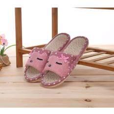 ขาย รองเท้าใส่ในบ้าน Slipper สไตล์ญี่ปุ่น ลายโบน่ารัก พื้นยางกันลื่น สีชมพู ออนไลน์ ใน กรุงเทพมหานคร