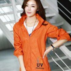ซื้อ Smartshopping เสื้อกันแดด เสื้อคลุมกันแดด เสื้อกัน Uv เสื้อแขนยาวกันยูวี ไซส์ Xl สีส้ม Smartshopping