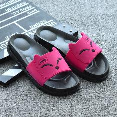 ขาย ซื้อ ในร่มรองเท้าแตะเกาหลีพลาสติกและรองเท้าแตะหญิง สีแดงเป็นสีดอกกุหลาบ