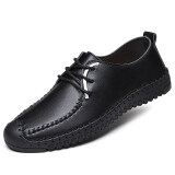 ราคา เกาหลีนุ่ม Soled บริสุทธิ์ที่ทำด้วยมือนักเรียนรองเท้าผู้ชายรองเท้าหนังสีน้ำตาล ชายรุ่น สีดำ ใหม่ ถูก