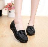 ขาย รองเท้าฤดูใบไม้ผลิและฤดูร้อนหญิงตั้งครรภ์รองเท้านุ่ม Soled กลวง สีดำ ใหม่