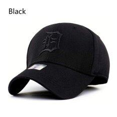 โปรโมชั่น Spandex Elastic Fitted Hats Sunscreen Baseball Cap Men Or Women Sport Hat Circumference 58 59Cm Black Intl ใน จีน