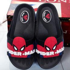 Hero รองเท้าแตะการ์ตูนสำหรับฤดูร้อนเด็ก Spider-Man.