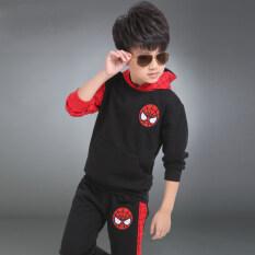 ส่วนลด กีฬาฤดูใบไม้ร่วงใหม่เด็กชาย Spider Man เด็ก คลุมด้วยผ้า Spider Man ชุดสีดำ Unbranded Generic ใน Thailand