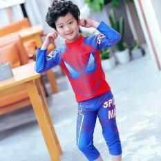 ราคา ชุดว่ายน้ำเด็ก Spiderman แขนยาว ขายาว 4 ส่วน สีน้ำเงิน แดง 7839 Unbranded Generic เป็นต้นฉบับ