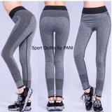ส่วนลด สินค้า Sport Outfits By Pani กางเกงออกกำลังกายขายาวเนื้อยืดหยุ่นกระชับทรง สีเทา