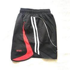 ซื้อ Sports กางเกงกีฬาขาสั้นผู้หญิง สีดำ แต่งแดง Model03 ออนไลน์ ถูก