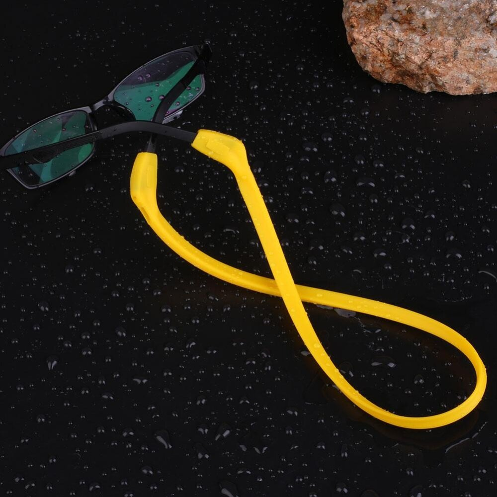 Sports Glasses Neck Cord Sunglasses Eyeglasses Chain Silicone Straps String - intl