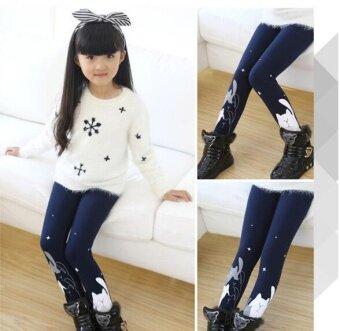 ฤดูใบไม้ผลิและฤดูใบไม้ร่วงสาวใหม่เกาหลีรุ่นสวมใส่กางเกงเด็กใหญ่/ภายใต้นักเรียนบางดอกยางคลื่น-นานาชาติ