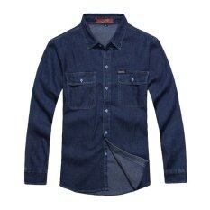 ราคา Spring Autumn Casual Denim Long Sleeve Shirts Blue Unbranded Generic ออนไลน์
