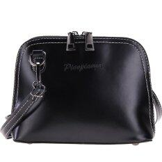 Spring Retro Women Pu Leather Vintage Messenger Bag Shoulder Bag Crossbody Intl เป็นต้นฉบับ