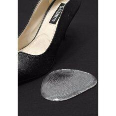 ราคา Heelplus 2 คู่ 4 ชิ้น แผ่นเจลรองจมูกเท้า กันลื่น กันหลวม เสริมด้านหน้า No 873006 ใส ใหม่