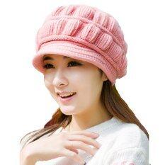 ขาย Squareladies หมวกไหมพรมกันหนาว บุขนด้านใน รุ่น H002B Pink Squareladies ใน กรุงเทพมหานคร