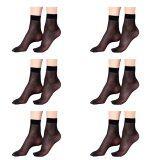 ขาย Squareladies 6 คู่ ถุงเท้า ถุงน่อง แบบบางระดับข้อเท้า No 821 สีดำ ผู้ค้าส่ง