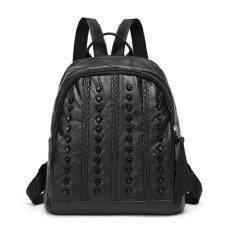 ราคา St Martshop กระเป๋าเป้สะพายหลังหนังแท้ รุ่น St25 สีดำ ออนไลน์