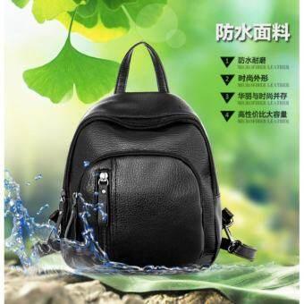 Star family Fashion Bag backpack กระเป๋า กระเป๋าเป้สะพายหลังกระเป๋าเดินทาง(Black)  -