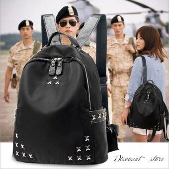 Star family กระเป๋าสะพายหลัง กระเป๋าเป้ กระเป๋าแฟชั่นผู้หญิง รุ่น pp-01 (สีดำ)
