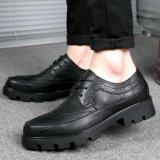 ราคา Stmengge Men S High Quality Leather Tie Casual Shoes(Black) Intl ออนไลน์ จีน