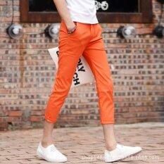 ซื้อ ยืดชายเวลาว่างเกาหลี บาง เก้ากางเกง กางเกง บาง หนุ่มสาว ชาย กางเกงบุรุษ นานาชาติ ถูก จีน