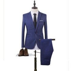 ราคา ชุดสูทธุรกิจแฟชั่น Sts สองชุด สีฟ้า สนามบินนานาชาติ ออนไลน์