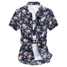 ขาย Ao Ge Di Ni เสื้อเซิ้ตแขนสั้น ลายดอกไม้ แบบลำลอง สไตล์ผู้ชายเกาหลี กองทัพเรือบิ๊กดอกคำฝอย แขนสั้น กองทัพเรือบิ๊กดอกคำฝอย แขนสั้น Unbranded Generic ผู้ค้าส่ง