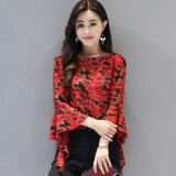 ราคา เสื้อชีฟองหญิง ลายดอก สไตล์เกาหลี สีแดงพิมพ์ สีแดงพิมพ์ Other เป็นต้นฉบับ
