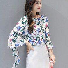 ซื้อ เสื้อชีฟองหญิง ลายดอก สไตล์เกาหลี สีเขียวพิมพ์ สีเขียวพิมพ์ ใน ฮ่องกง