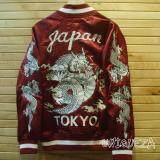 Sukajan Jacket Dragon Japan Tokyo แจ็กเก็ตปักลายมังกรหน้า หลังและแขน เป็นต้นฉบับ