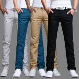 ขาย Summer Autumn Cotton Multicolor Men Pants Business Or Casual Style Slim Fit Trousers Straight Long Pants Unbranded Generic