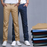 ราคา Summer Autumn Cotton Multicolor Men Pants Business Or Casual Style Slim Fit Trousers Straight Long Pants จีน