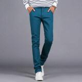 ทบทวน Summer Autumn Cotton Multicolor Men Pants Business Or Casual Style Slim Fit Trousers Straight Long Pants