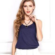 ราคา Summer Ladies Coat Chiffon Shirt With Sleeveless Chiffon Vest Intl Gestore ใหม่