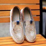 ราคา Summer Men Casual Shoes Classical Vintage Men Shoes Denim Shoes Canvas Slip On Denim Shoes Jeans Intl Unbranded Generic จีน