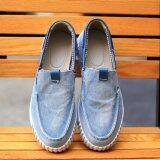 ราคา Summer Men Casual Shoes Classical Vintage Men Shoes Denim Shoes Canvas Slip On Denim Shoes Jeans Intl ใน จีน