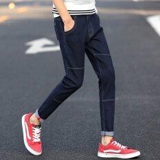 ขาย ฤดูร้อนผู้ชายกางเกงยีนกางเกงยีนกลางคืนฟุตกางเกงชายยืดหยุ่นกางเกงลำลองลำลอง นานาชาติ Unbranded Generic ใน จีน