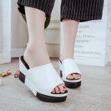 ขาย ซื้อ Summer New Open Toe Fish Head Fashion High Heels Wedge Sandals Intl ใน จีน