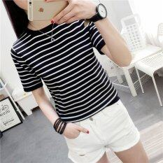 ราคา Summer New Style Round Neck Short Sleeves Woman T Shirt Intl เป็นต้นฉบับ