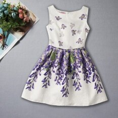 ราคา Summer Sleeveless Print G*rl Princess Dress Intl ใหม่