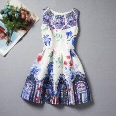 ทบทวน ที่สุด Summer Sleeveless Print G*rl Princess Dress Intl