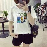 ทบทวน ที่สุด Summer Women Print White T Shirt Top Tee Blouse Intl