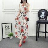 ราคา Summer Women Sleeveless Floral Chiffon Multicolor Maxi Dress Intl ถูก