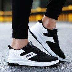SUN Fshion Casual รองเท้าผ้าใบ รองเท้าผ้าใบผู้ชาย รองเท้าแฟชั่น F010 - Black