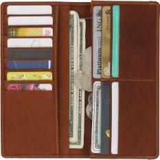 ราคา กระเป๋าสตางค์ทรงยาวแบบพับหนังแท้ Sun Lifestyle รุ่น Sl268 2 สีน้ำตาล เป็นต้นฉบับ