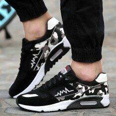 ราคา Sun New Fshion รองเท้าผ้าใบ รองเท้าผ้าใบผู้ชาย รองเท้าแฟชั่น Xd9 Black ที่สุด