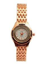 ราคา Sunday นาฬิกาข้อมือสตรี ล้อมเพชร Stainless Strap สีพิ้งโกลด์ เป็นต้นฉบับ Sunday