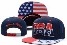 Sunnys Shop - Usa หมวกแก็ปลายธงปรับหมวกเบสบอลมียอดแหลมหมวก - Intl By The Sunnyshop.