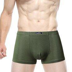 ราคา Sunows กางเกงชั้นในชาย บ๊อกเซอร์ สีเขียว เป็นต้นฉบับ
