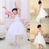 Sunshop Kids Girls Sweet Style Multi Layer Tulle White Princess Dress For Wedding Banquet Birthday Party Intl จีน